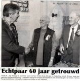 Willem Boer 60 jarig huwelijk
