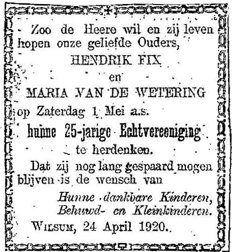 25 april 1920.