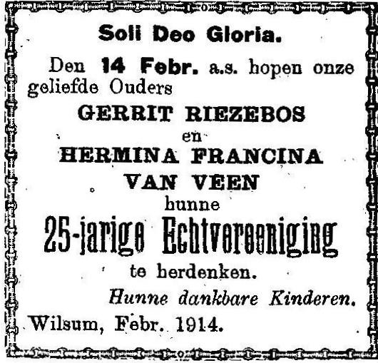 14 februari 1914.