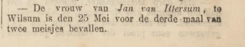 Ter Neuzensche corant van 29 mei 1867.