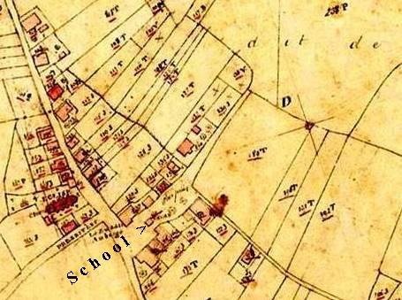 Kaart van Wilsum in 1818.
