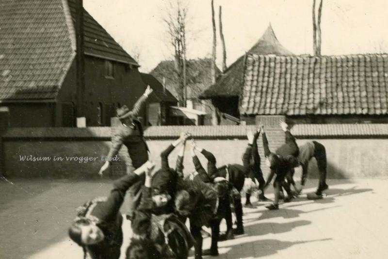 Rengersen op het schoolplein