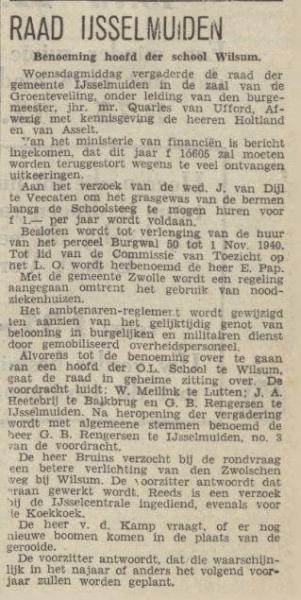 19400503 Benoeming