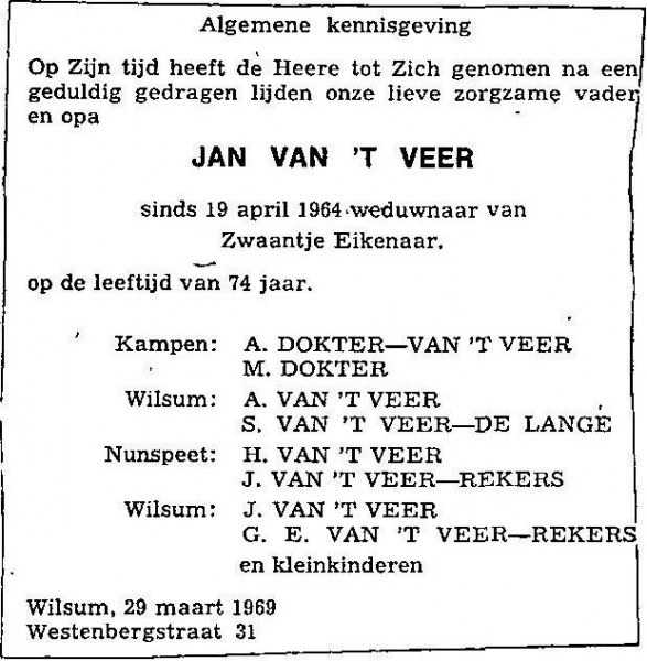 29 maart 1969.