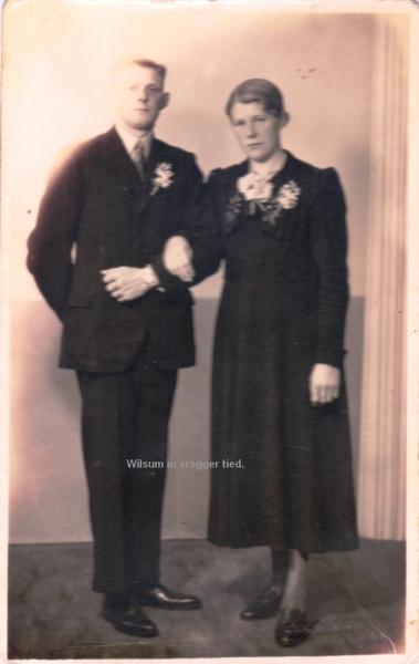 Jan de Velde Harsenhorst  en Gerritdina Hendrika (Diekie) Westerhof.