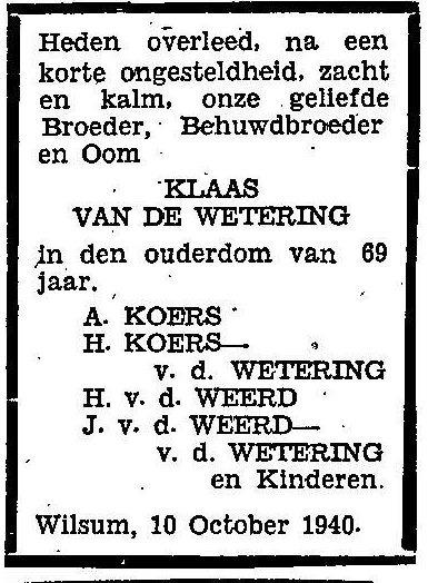 10 oktober 1940.