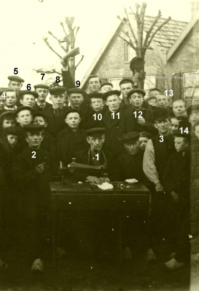 ca.1915. Kleermaker Hein Westenberg